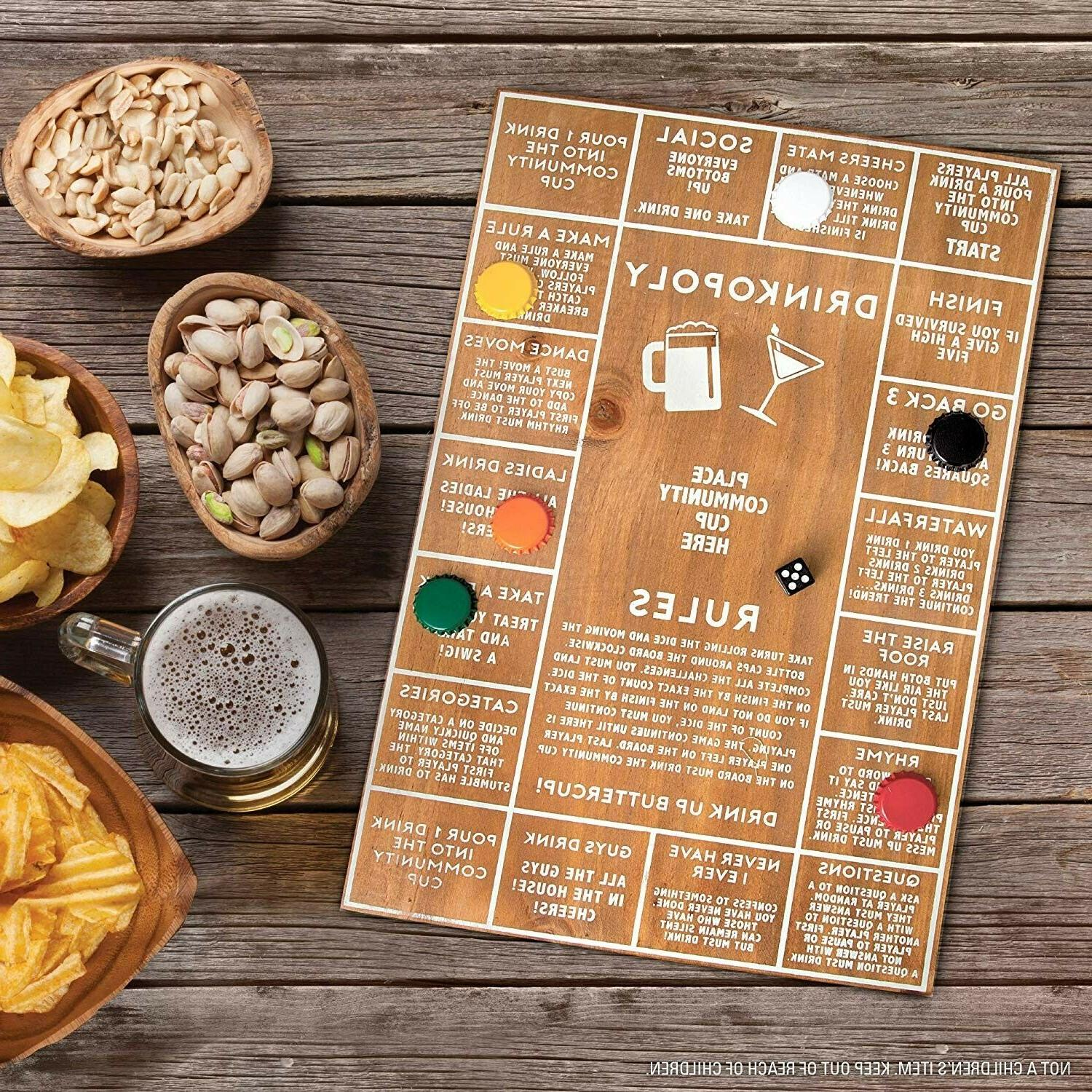 refinery drinkopoly wooden board drinking game