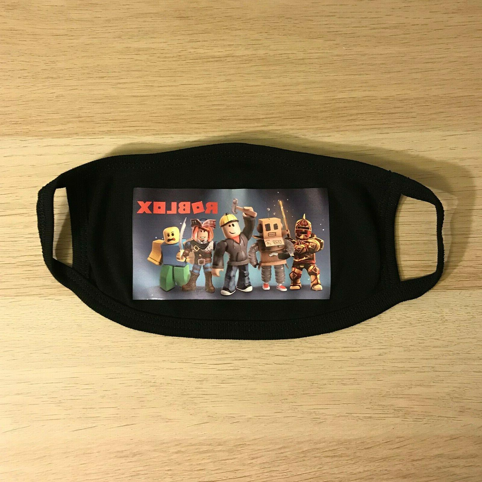 Roblox Game Mask Teens 5 to Old Washable