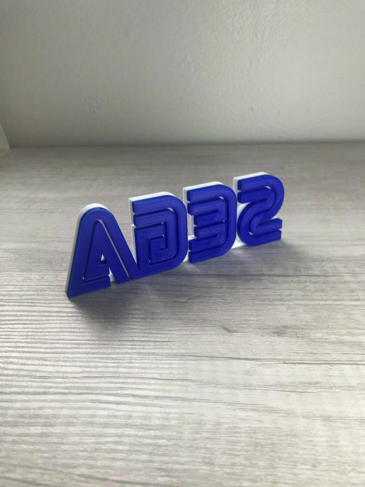 sega video game logo sign 3d printed