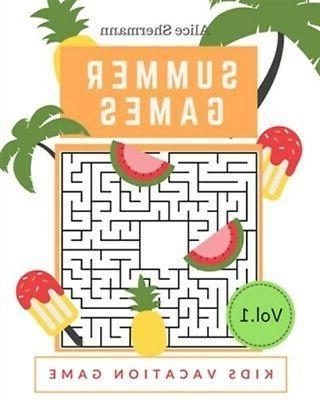 Summer Activity Book for Kids Ages 4-8: Fun Art Workbook Gam