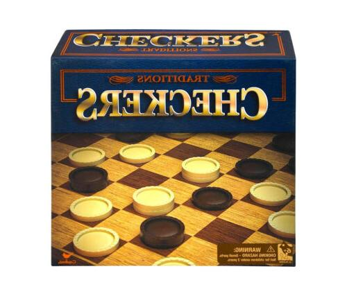 traditions traditions checkers game set classic tabletop