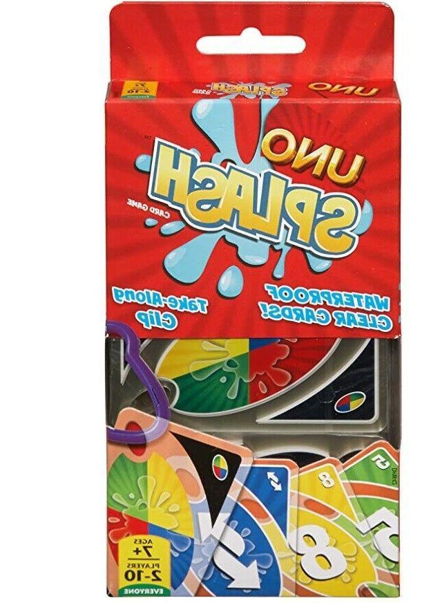 uno splash card game waterproof
