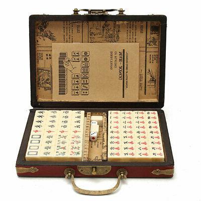 us portable vintage mahjong rare chinese 144