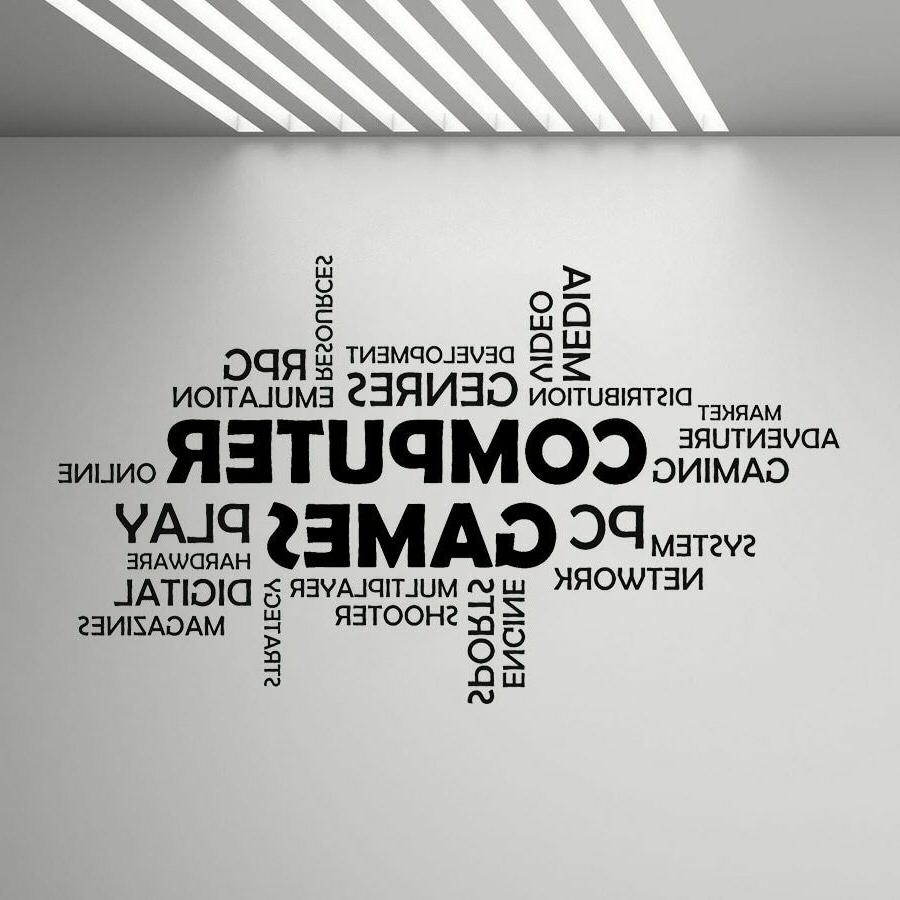 word cloud computer games wall vinyl decal