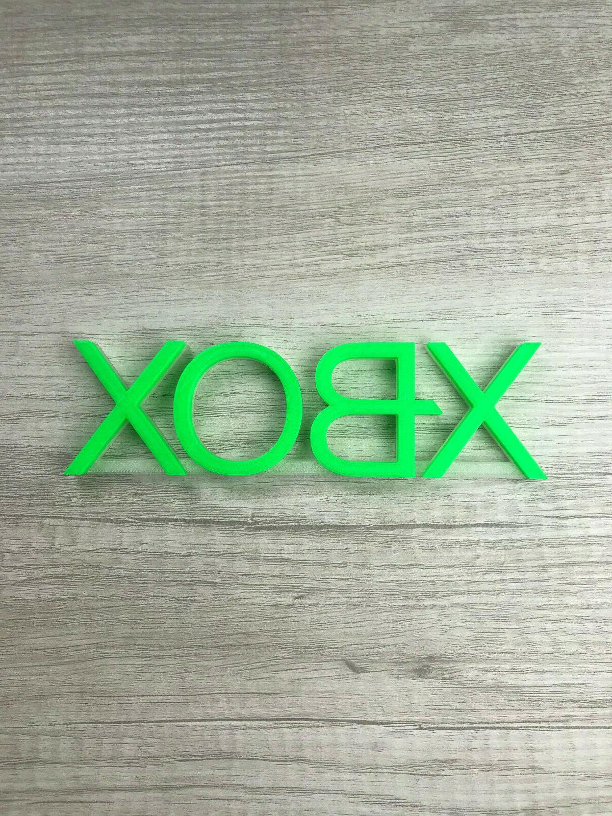 XBOX Video game logo man cave, room, shelf,