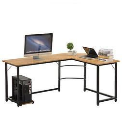Office Corner Computer Desk L-Shaped Workstation Home Studen