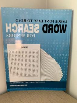 Large Font Easy To Read , Word Search For Seniors , 122 Page