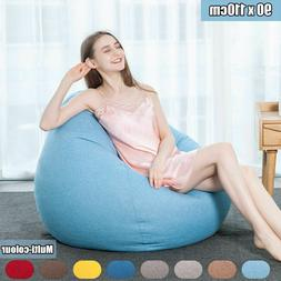 Lazy Bean Bag Chairs for Adults Sitting Couch Sofa Cover Ind