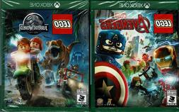 LEGO Marvel Avengers & LEGO Jurassic Worlds Xbox One Both Ne