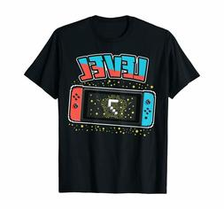 Level 7 Birthday Shirt Boy 7 Years Old Video Games Gift T-Sh