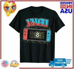 Level 8 Birthday Shirt Boy 8 Years Old Video Games Gift TShi