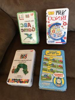 Lot of 4 Games in Tins, Thomas Tic Tac, I Spy, ABC Game, Hun