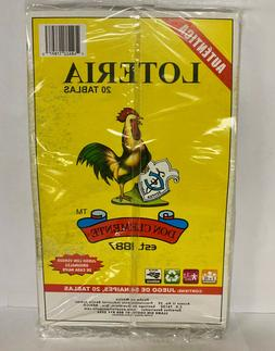 Don Clemente Loteria Mexican Bingo Set 20Tablets  1ct Bag