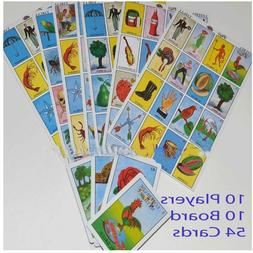 Loteria Mexicana Mexican Bingo 10 playing boards 54 playing
