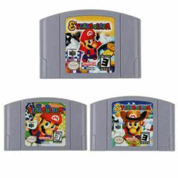 Mario Party 1 2 3 Video Game Cartridge Console Card US Versi