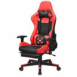 Massage Gaming Chair Reclining Racing Office Chair w/ Lumbar