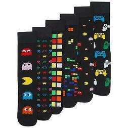 Mens/Boys 6 Pack Retro Games Socks Cotton Rich Designer Sock