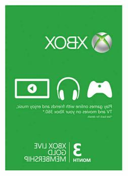Microsoft - Xbox Live Gold 3 Month Membership - Instant