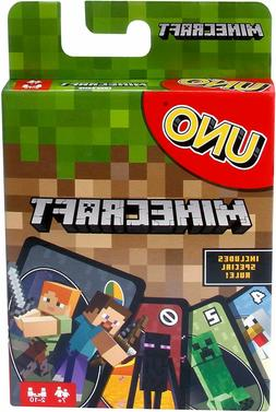 UNO Minecraft Card Game, Toys & Hobbies, Card Games & Poker