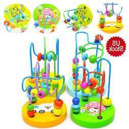 Mini Around Beads Wire Maze Roller Coaster Wooden Educationa