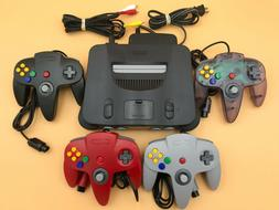 N64 Nintendo 64 Console + UP TO 4 NEW CONTROLLERS + Cords +