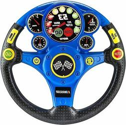NASCAR Racing Wheel Rev N Roll Steering Wheel for Kids Toys,