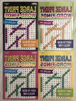 New 4 Large Print Word-Finds Puzzle Books Kappa Games Hobby