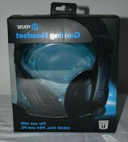 New U YOUSE GAMING HEADSET XBOX ONE, PS4, AND PC, With Built