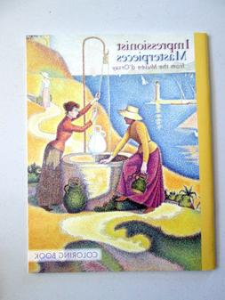 NEW Impressionist Masterpieces Famous Art Coloring Book Arti