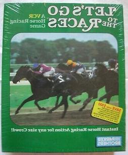 NEW LET'S GO TO THE RACES Vintage VCR Game 4-16 Playrs Ages