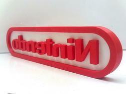 New For Nintendo NES Logo Sign 3D Printed Game Room Decorati