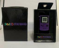 New Rare Nintendo Game Boy Color Watch Purple Digital