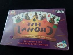 NEW SEALED FIVE CROWNS 5 SUITED RUMMY STYLE CARD GAME AWARD