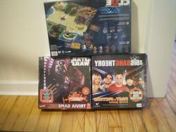 NIB Sealed Star Wars Trivia, The Big Bang Theory, and Clue A