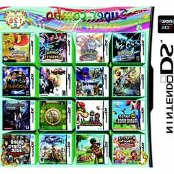 For Nintendo DS NDS NDSL NDSi 2DS 3DS US Card 208 In 1 Games