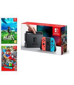 Nintendo Switch Console Red/Blue Néon 32Go + Super Mario Od