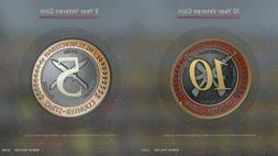 Old Steam Account   2004-2007'   5 & 10 Year Veteran Coin -