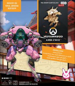 Overwatch Video Game D.VA'S Mecha 3D Laser Cut Wood Model Ki