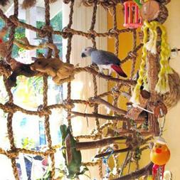 Parrot Pet Bird Climbing Net Jungle Fever Swing Rope Animals