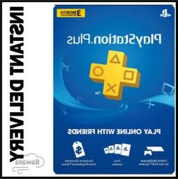 Sony PlayStation Plus 3 Month / 90 Day Membership Subscripti