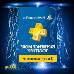 plus 3 month digital code ps4 ps3