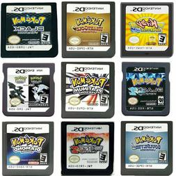 pokemon ds game cartridge console card black