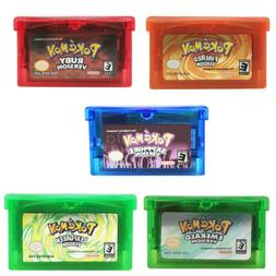Pokemon Emerald Ruby Sapphire FireRed LeafGreen GBA Game Car