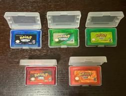 Pokemon Fire Red Leaf Green Emerald Ruby US Reproduction GBA