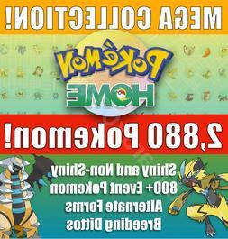 Pokemon Home 2880 Pokemon COMPLETE Gen 1-7 DEX  800+ EVENT,