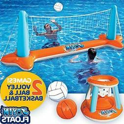 Pool Volleyball and Basketball Game,, Balls Included for Kid