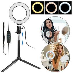LED Ring Light Dimmable 5500K Lamp Photography Camera Photo