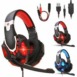 Pro Gaming Headset With LED For XBOX One PS4 Laptop Headphon