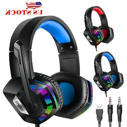 Pro Gaming Headset With Mic For XBOX One PS4 Laptop Headphon