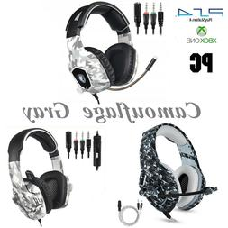 PS4 Gaming Headset Xbox One PC Headphone Camo 3.5mm Stereo S